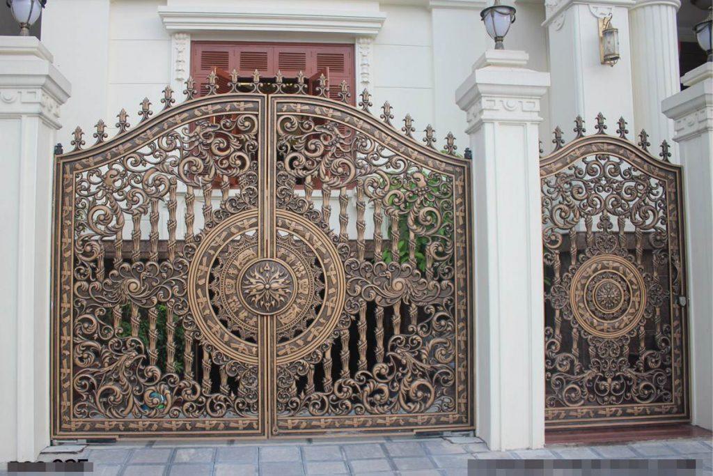 mẫu cổng sắt CNC cho biệt thự