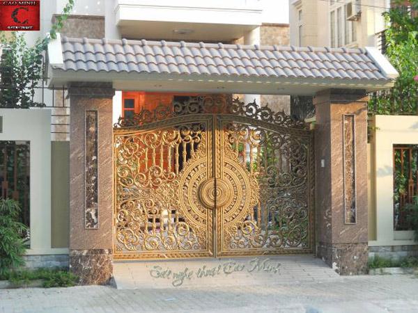 mẫu cổng sắt nghệ thuật biệt thự