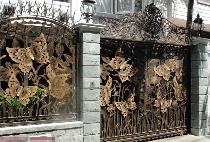 mẫu cổng biệt thự hiện đại