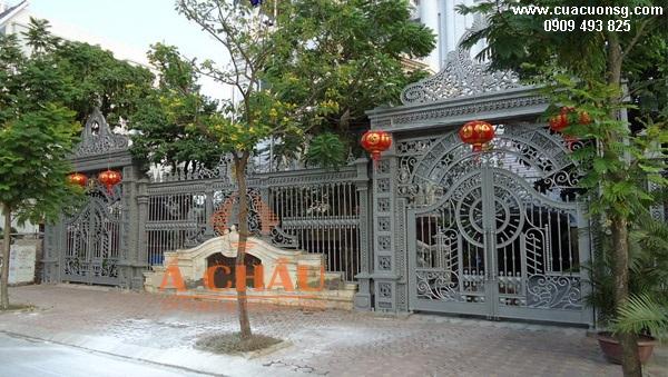 mẫu cổng biệt thự và hàng rào đẹp hiện đại