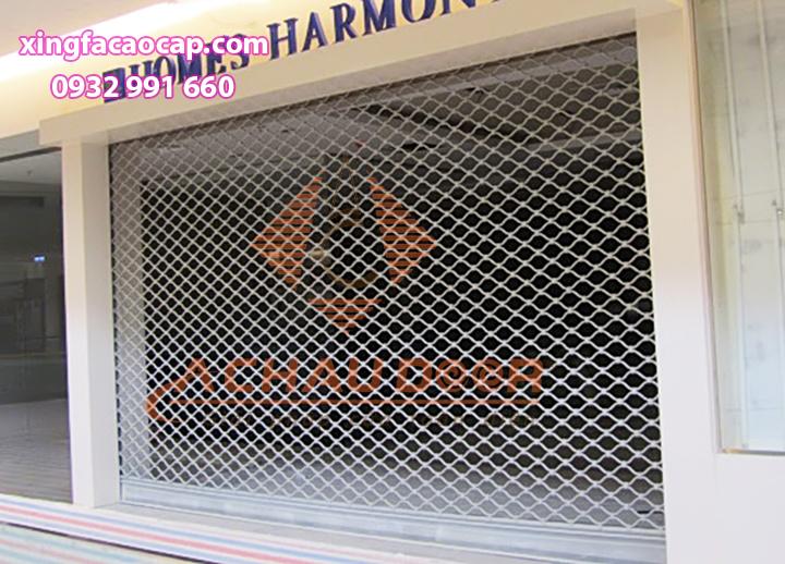 Mẫu cửa cuốn lưới mắc cáo sơn tĩnh điện