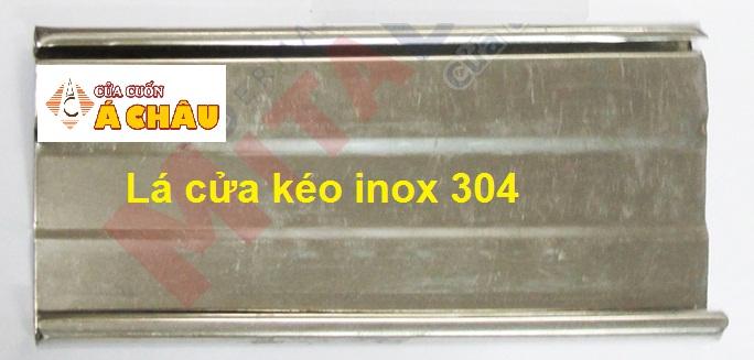 Lá cửa kéo inox 304 dành cho cửa kéo inox có lá