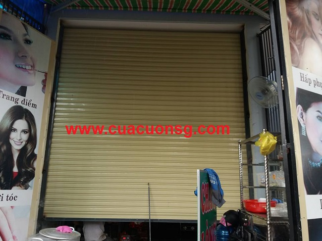 Cửa Cuốn Đài Loan Lá Siêu Trường 1.2 Li Dùng Motor 3