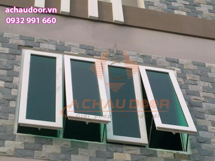 Cửa sổ mở hất 4 cánh nhôm Xingfa chất lượng