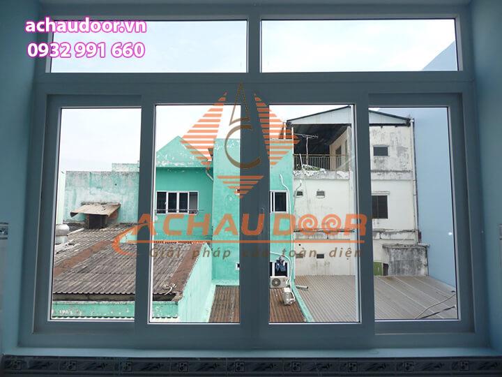 Cửa sổ mở lùa 4 cánh nhôm Xingfa giá rẻ