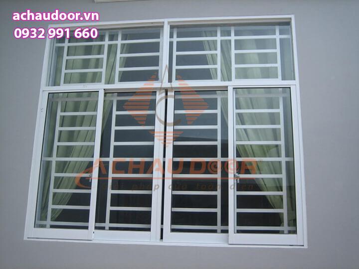 Cửa sổ mở lùa 4 cánh nhôm Xingfa đẹp