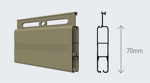 Cửa cuốn Austdoor nan nhôm Mega - M70